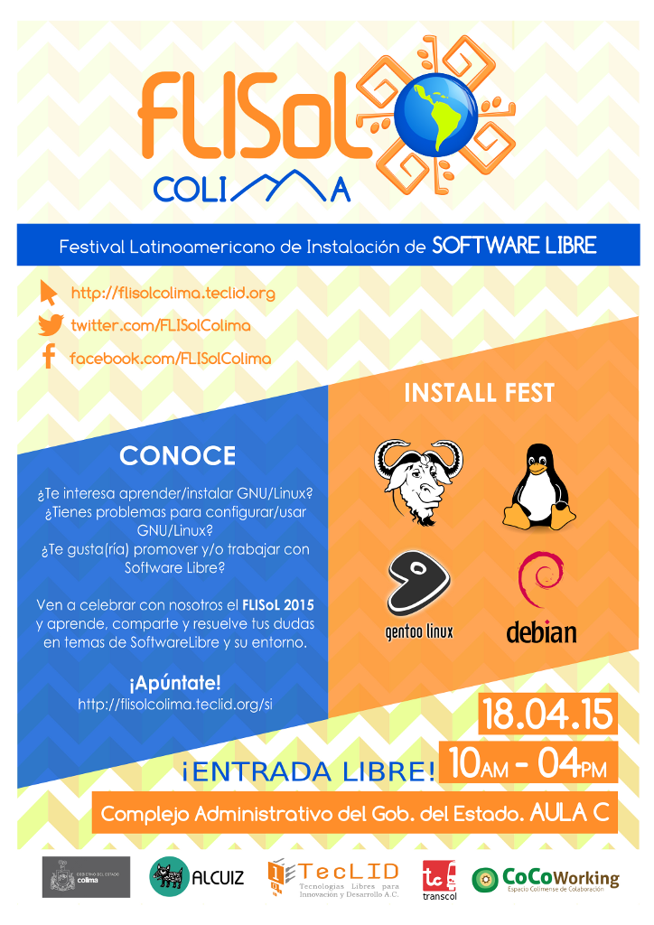 Poster FLISoL Colima 2015